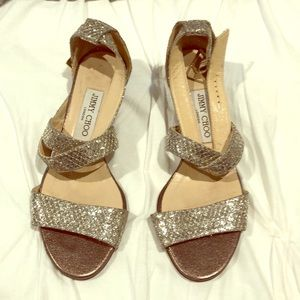 Jimmy Choo small wedge with sequins